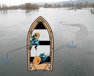 Ловля квоком сома с лодки