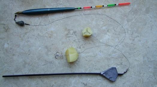 Оснастка на карпа с картошкой