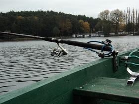 Подставка для фидера с лодки