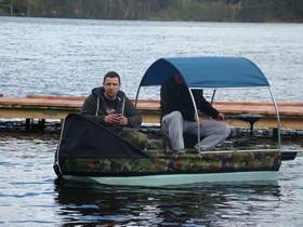 Фидер с лодки на водохранилище